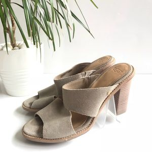 UGG CELIA SUEDE CANVASS LEATHER SANDALS 8